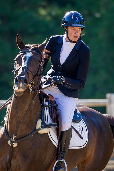 Head Trainer Katherine Wade-Easley Rides in Competition